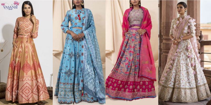 Silk Designer Lehenga Online